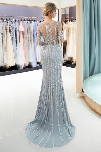 Fabulous Jewel Stretch Satin Mermaid Prom Dress_4
