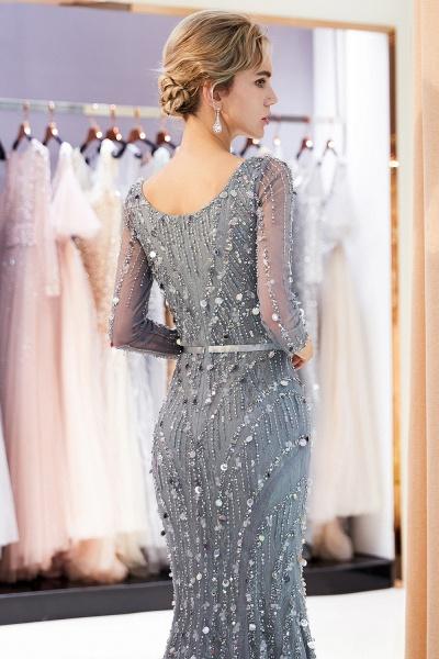 Wonderful V-neck Tulle Mermaid Prom Dress_8