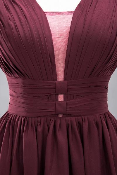BM0214 A-Line Chiffon V-Neck Sleeveless Long Bridesmaid Dress_15
