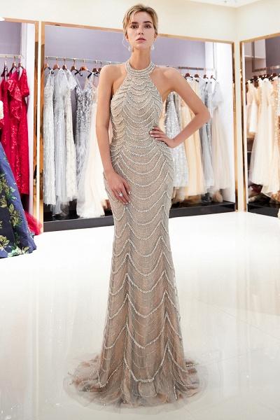 Marvelous Halter Tulle Mermaid Prom Dress_4