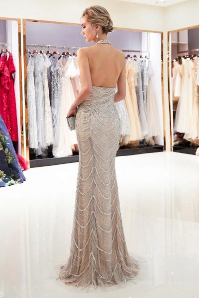 Marvelous Halter Tulle Mermaid Prom Dress_3