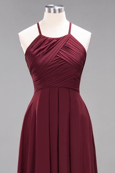 A-Line Chiffon Halter Ruffles Floor-Length Bridesmaid Dress_44
