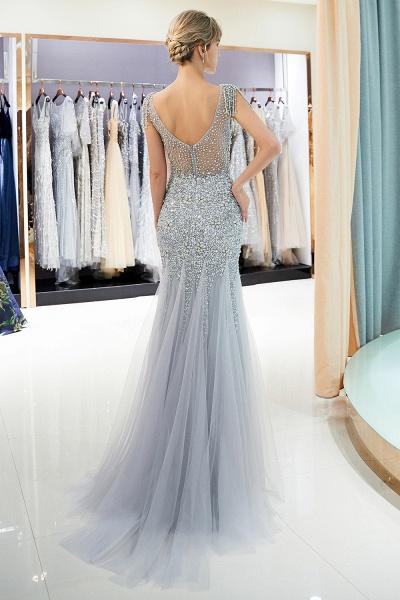 Fascinating Jewel Tulle Mermaid Prom Dress_4