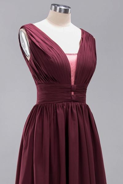 BM0214 A-Line Chiffon V-Neck Sleeveless Long Bridesmaid Dress_13