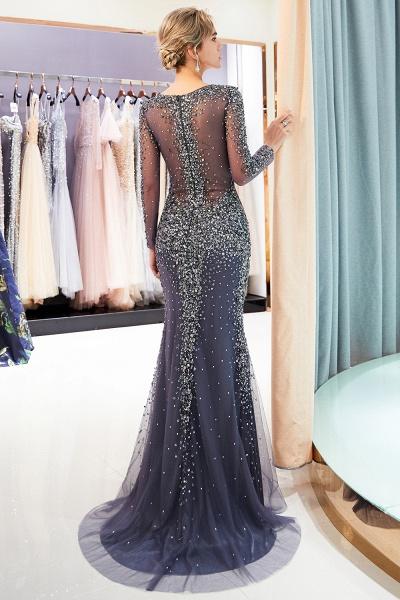 Excellent V-neck Tulle Mermaid Prom Dress_3