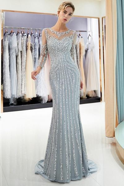 Fabulous Jewel Stretch Satin Mermaid Prom Dress_6