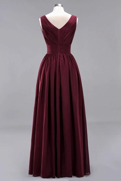 BM0214 A-Line Chiffon V-Neck Sleeveless Long Bridesmaid Dress_10