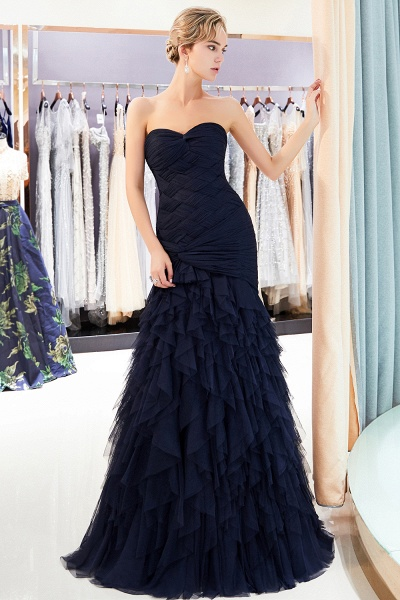 Amazing Strapless Tulle Mermaid Prom Dress_6