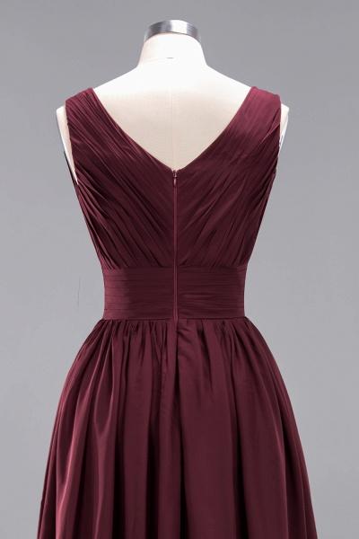 BM0214 A-Line Chiffon V-Neck Sleeveless Long Bridesmaid Dress_14