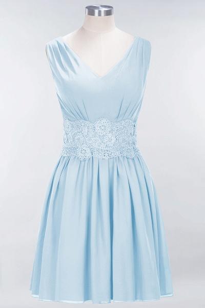 A-line Chiffon Lace V-Neck Sleeveless Mini Bridesmaid Dresses_22
