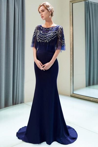 Attractive Jewel Stretch Satin Mermaid Prom Dress_9