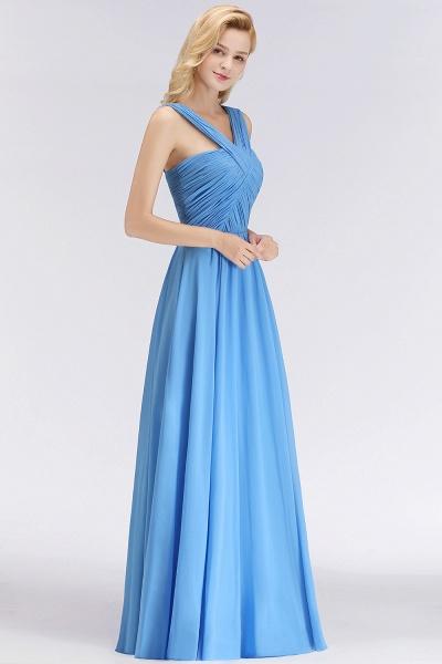 BM0048 A-Line Chiffon Straps Sleeveless Ruffles Floor Length Bridesmaid Dresses_4