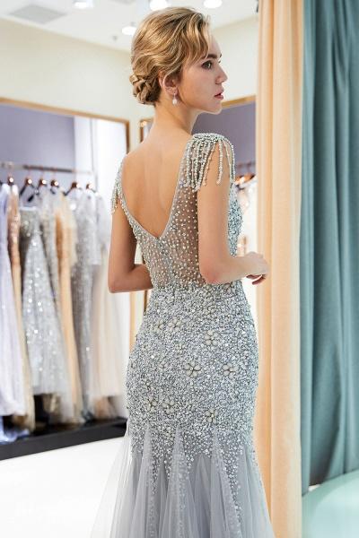 Fascinating Jewel Tulle Mermaid Prom Dress_7