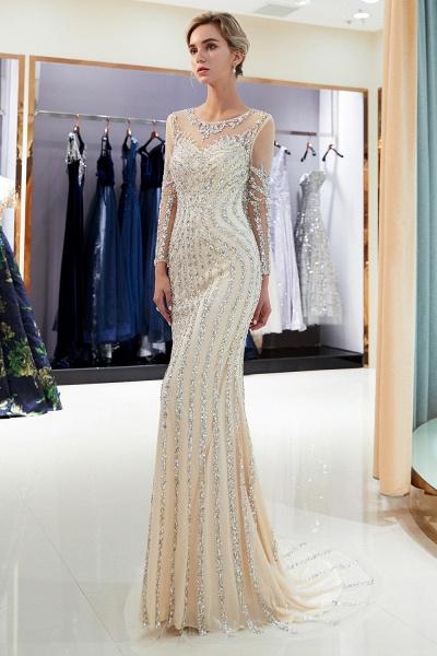 Fabulous Jewel Stretch Satin Mermaid Prom Dress_15
