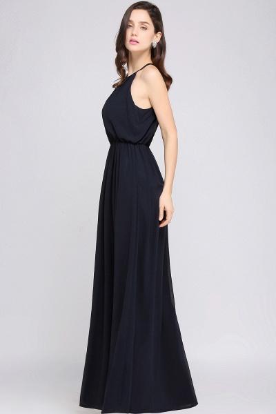 Simple A-Line Chiffon Halter Sleeveless Floor-Length Bridesmaid Dresses_3