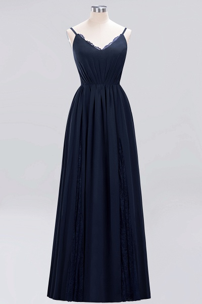BM0213 A-Line Chiffon V-Neck Spaghetti Straps Long Bridesmaid Dress_4