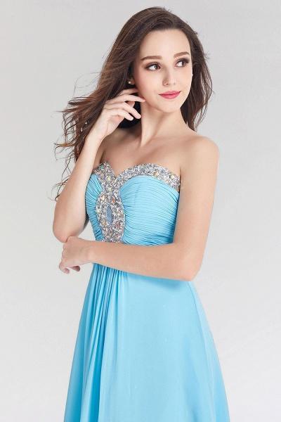 A-line Chiffon Sweetheart Sleeveless Ruffles Floor-Length Bridesmaid Dress with Beadings_5