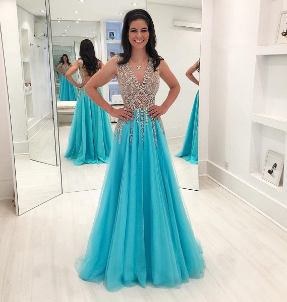 Exquisite Tulle A-line Prom Dress_1