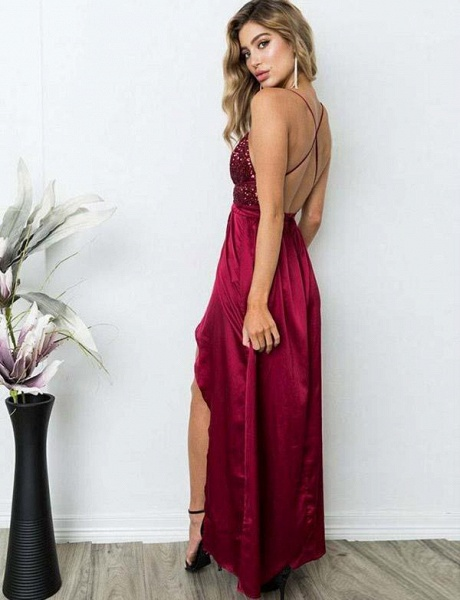 Excellent Spaghetti Straps Sequined A-line Prom Dress_7