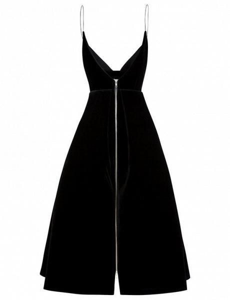 Elegant Spaghetti Straps A-line Homecoming Dress_4