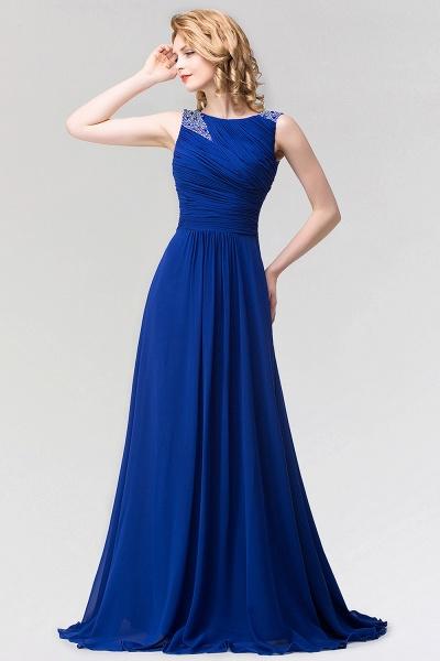 A-line Chiffon Jewel Sleeveless Ruffles Floor-Length Bridesmaid Dress with Beadings_1