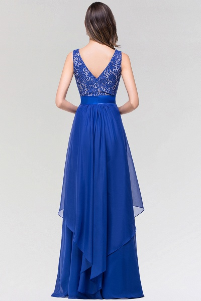 A-line Chiffon Lace Jewel Sleeveless Floor-length Bridesmaid Dresses_2