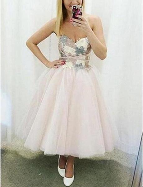 Sleek Sweetheart Tulle A-line Homecoming Dress_1