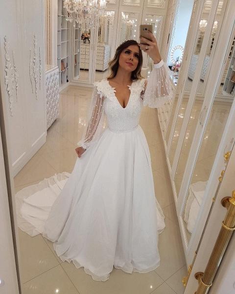 Fascinating V-neck Tulle A-line Prom Dress_3