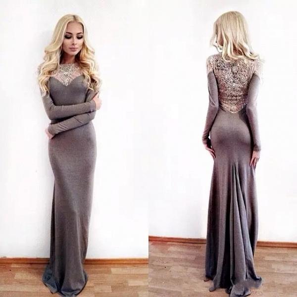 Fascinating Jewel Appliques Column Prom Dress_4