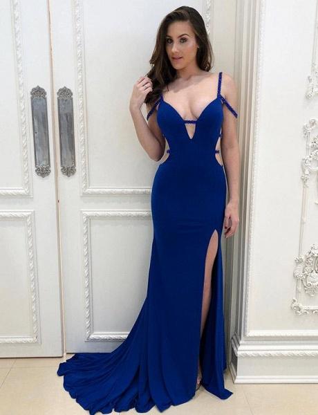 Fascinating Straps Mermaid Evening Dress_1