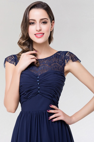 Elegant A-Line Chiffon Lace Scoop Sleeveless Ruffles Floor-Length Bridesmaid Dress with beadworks_5