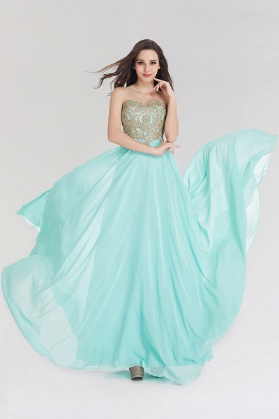 A-line Chiffon Strapless Sweetheart Sleeveless Floor-Length Bridesmaid Dress with Beadings_3