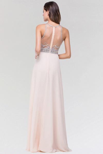 Elegant A-Line Chiffon Tulle Scoop Sleeveless Floor-Length Bridesmaid Dress with Beadings_2