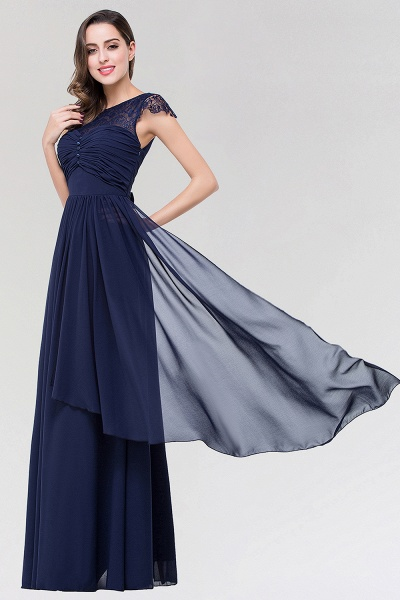 Elegant A-Line Chiffon Lace Scoop Sleeveless Ruffles Floor-Length Bridesmaid Dress with beadworks_3