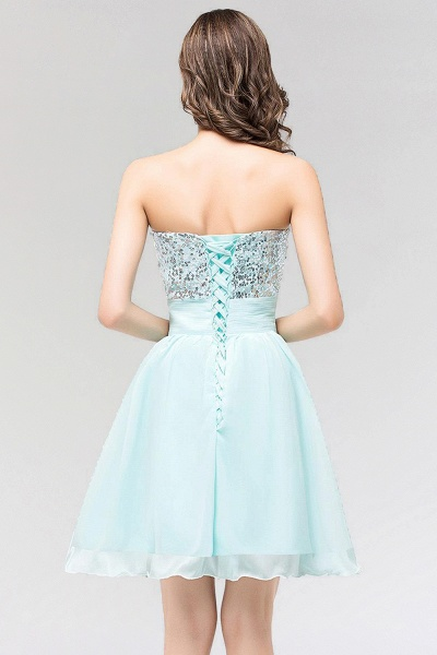A-line Chiffon Strapless Sweetheart Sleeveless Ruffles Mini Bridesmaid Dress with Beadings_2