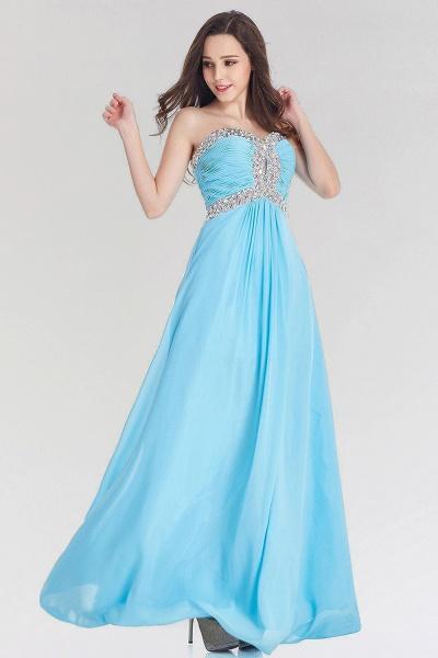 A-line Chiffon Sweetheart Sleeveless Ruffles Floor-Length Bridesmaid Dress with Beadings_3