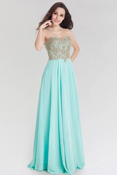 A-line Chiffon Strapless Sweetheart Sleeveless Floor-Length Bridesmaid Dress with Beadings_1