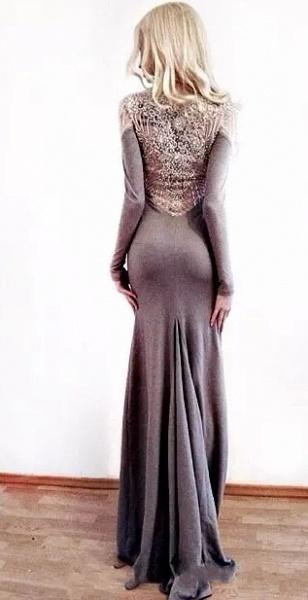 Fascinating Jewel Appliques Column Prom Dress_3