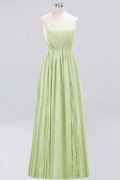 BM0213 A-Line Chiffon V-Neck Spaghetti Straps Long Bridesmaid Dress_5