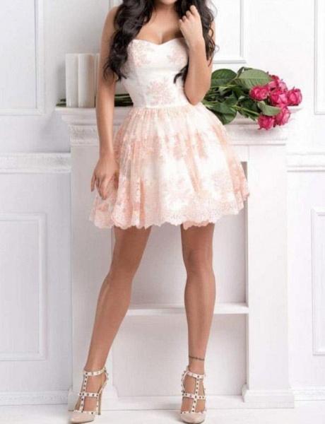 Fabulous Sweetheart Appliques A-line Cocktail Dress_3