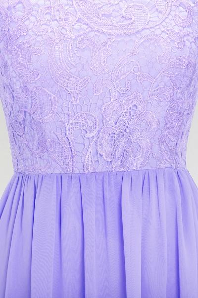 A-line Chiffon Lace Jewel Sleeveless Floor-Length Bridesmaid Dress with Ruffles_5