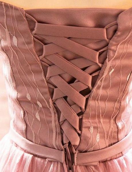 Elegant Short Sleeves A-Line Off-the-Shoulder Tea-Length Homecoming Dress_5