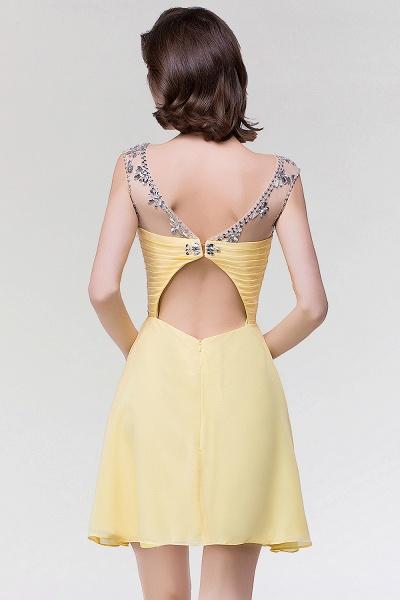 A-Line Chiffon Sweetheart Sleeveless Ruffles Mini Bridesmaid Dress with Beading_2
