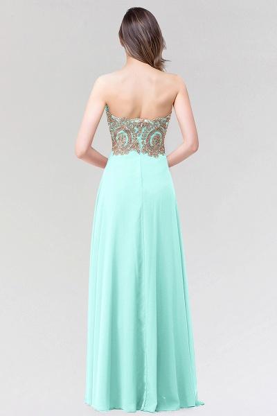 A-line Chiffon Strapless Sweetheart Sleeveless Floor-Length Bridesmaid Dress with Beadings_2
