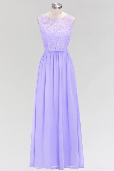 A-line Chiffon Lace Jewel Sleeveless Floor-Length Bridesmaid Dress with Ruffles_1