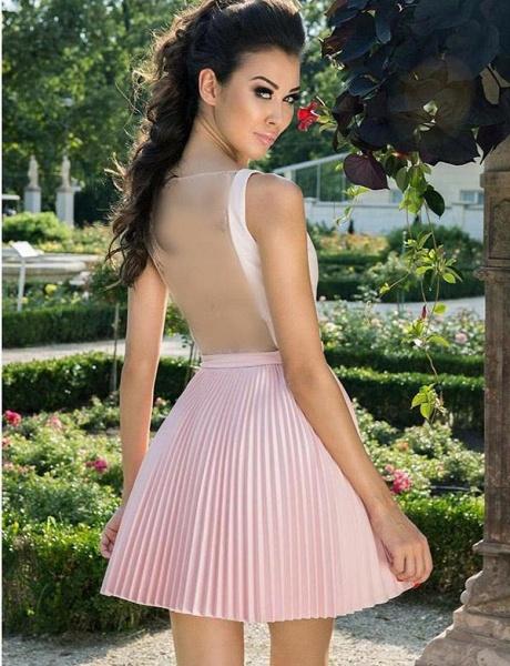 Stylish A-Line V-Neck Sleeveless Straps Short Prom Dress_4