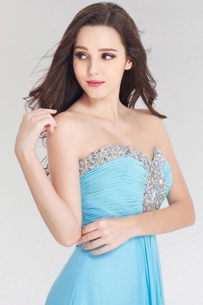 A-line Chiffon Sweetheart Sleeveless Ruffles Floor-Length Bridesmaid Dress with Beadings_4