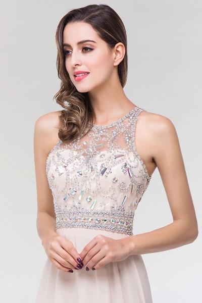 Elegant A-Line Chiffon Tulle Scoop Sleeveless Floor-Length Bridesmaid Dress with Beadings_6