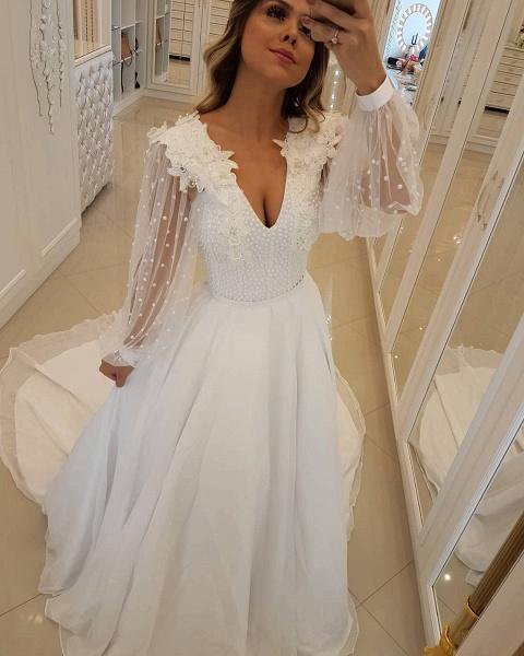 Fascinating V-neck Tulle A-line Prom Dress_1