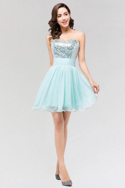 A-line Chiffon Strapless Sweetheart Sleeveless Ruffles Mini Bridesmaid Dress with Beadings_3